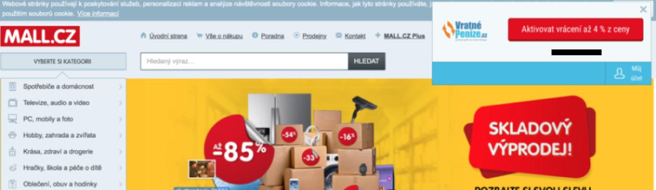 Připomínáček na Mall.cz