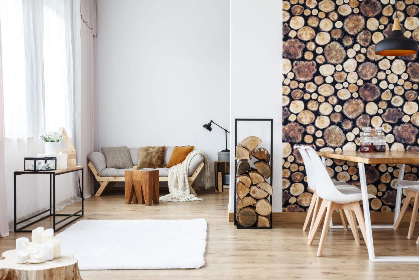 Tapeta se vzorem dřeva